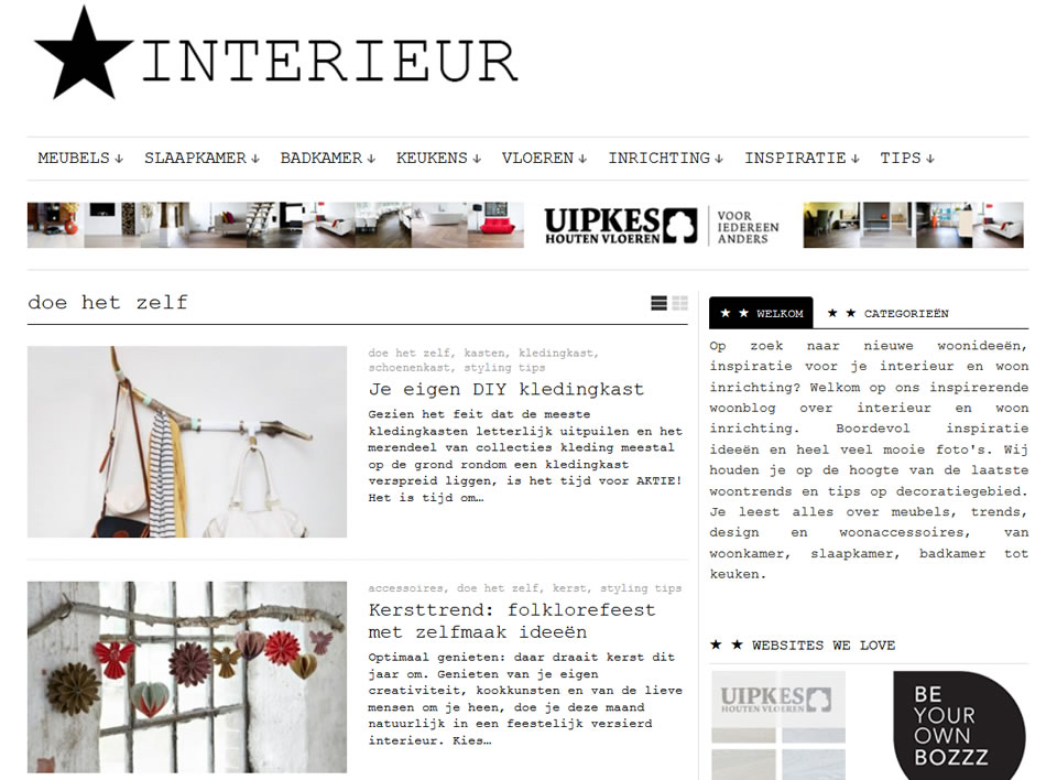 interieur website